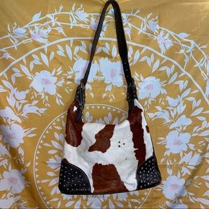 AMERICAN WEST Calf-fur Genuine Leather Bag